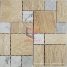 Travertine Mix Marble Stone Mosaic (CFS958)