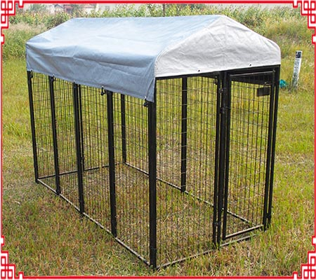 outdoor welded dog kennel