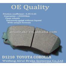 D1210 Corolla cerámica de freno
