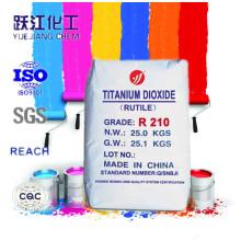 Rutilo titânio dióxido fabricante TiO2 R210 para tinta