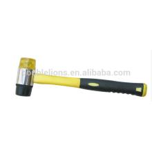 Duplo revestimento plástico punho macio cara martelo, ferramentas manuais