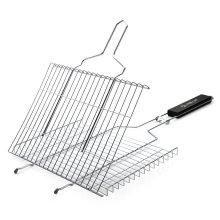 Grelha redonda de churrasco / churrasqueira quadrada grelha de arame / retângulo churrasqueira rede de arame de cozinha