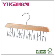 Cinto de madeira com 12 racks