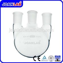 JOAN LAB Tres frascos redondos de vidrio de cuellos con junta estándar