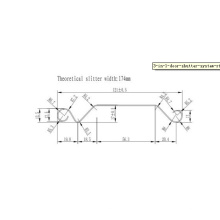 Станок для производства рулонных ворот с жалюзи из оцинкованной стали