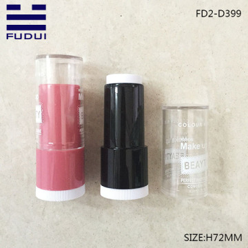 Round makeup concealer foundation lipstick tube