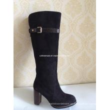 Novas sapatilhas de couro feminino sexy