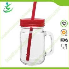 Tarro de albañil de vidrio de 16 onzas con mango, vaso de agua