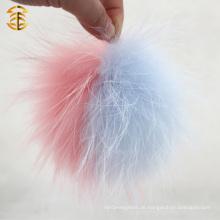 Blasse rosa und blaue gemischte Farbe Real Waschbär Pelz Ball Waschbär Pelz Pom Für Beutel Charm