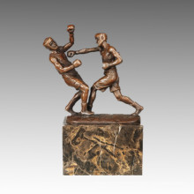 Sports Statue Rugby 2 Players Bronze Sculpture, Milo TPE-767