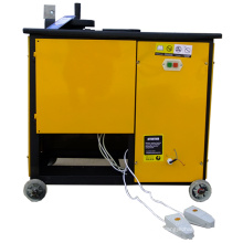 Reinforcing bar strapping machine