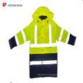 Veste de sécurité réfléchissante haute visibilité vert et noir 3m
