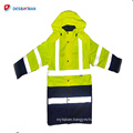 Visibility Security Safety Vest Jacket Reflective Strips Work Wear Uniforms Clothing