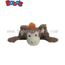 Plush Dark Brown Monkey Animal Squeaker Pet Toy for Dog Bosw1060/30cm