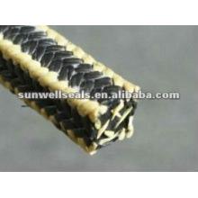 Графитовая ПТФЭ упаковка с арамидным волокном Уголки