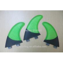 2016 half carbons FCS GL OEM design Surf fins green color on sale