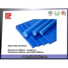 Buena varilla de poliamida de nylon azul resistente al desgaste
