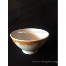подгонянное печатание керамических ножках чаша, чаша фарфора с этикетой