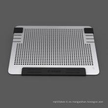 Todos aluminio almohadilla de refrigeración portátil Mac portátil ventiladores de refrigeración pad dual