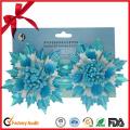 Winter Sky-Blue Star Flower Festival Decoration Bow