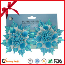 Winter Sky-Blue Star Flower Festival Decoration Bow