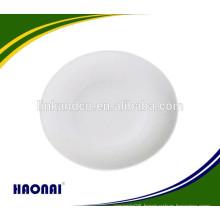 Customized plain ceramic plates for restaurant with customer's logo