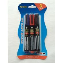 3PCS Permanent Marqueur Pen 8801, Papeterie Set Office Supply
