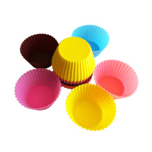 colorful small silicone cupcake molds