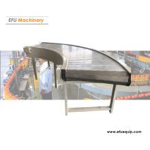 Curved Metal Chain Plate Conveyor