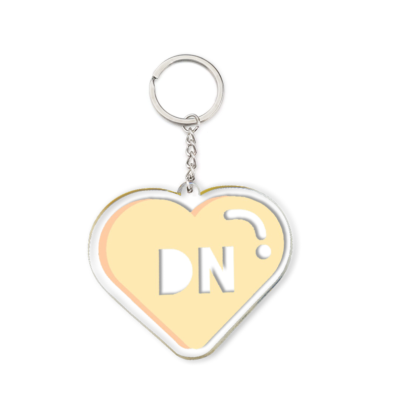 Acrylic Heart Keychain Orange