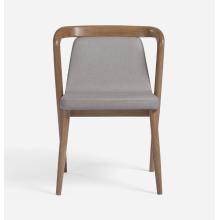 Sillas de ocio de madera ergonómicas modernas con asiento de tela