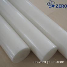 Varilla de acetal de color blanco