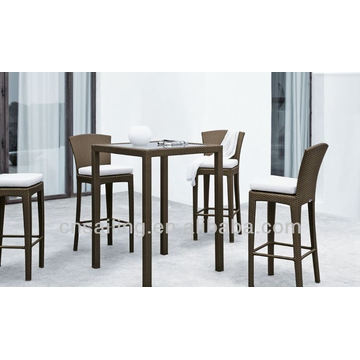 Luxury Durable Poly Wicker High Tables