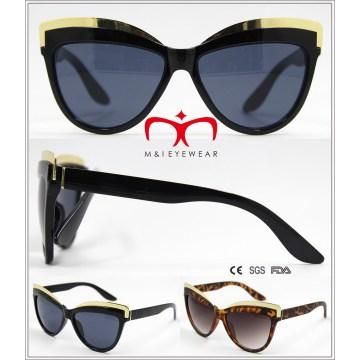 Gafas de sol de gafas de gato de plástico con decoración de metal (wsp604567)