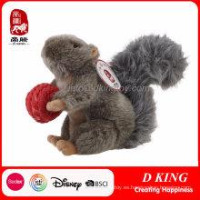 Personalizada suave peluche de juguete personalizado ardilla de animales de peluche