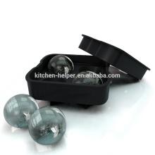 Bandejas de cubos de gelo de molde de bola de gelo de silicone feitas na China