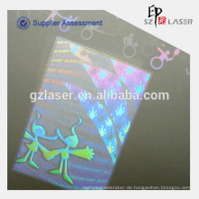 Gewohnheit Hologramm Beutel für Laminieren gedruckt Teslin Papier