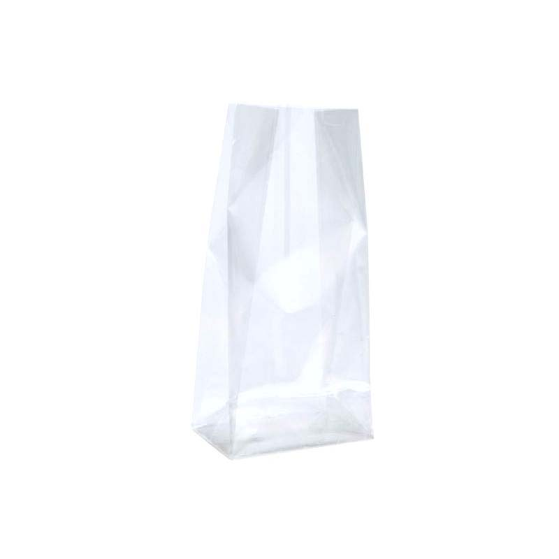 Pe transparent flat bottom bag