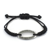 Custom Oval Shaped Charms Inspire Jewelry Bracelets