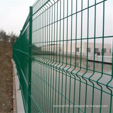 Cerca de malha de arame revestido de PVC verde