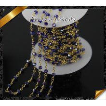 Latest Design Glass Rosary Chain Gold Chain Wholesale (JD009)