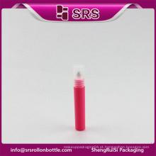 Hot venda fabricante novo estilo roseo amostra 7ml mini garrafa e rolo de plástico em garrafa para creme de olho