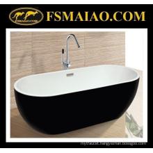 Unique Design Acrylic Bathtub Thin Edge Black & White (9006)