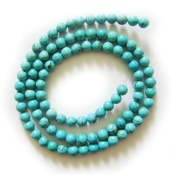 4MM Turquoise Round Beads