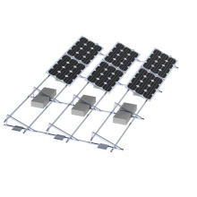 Off Grid Solar power Plant adjustable Triangle mounting System