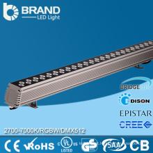 Alta qualidade ao ar livre IP65 impermeável 24x1W DMX RGB cor perseguindo parede arruela LED