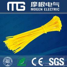 Fuente de la fábrica buena resistencia a la corrosión del aislamiento nylon 66 lazos de cable numerados