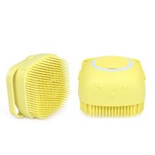 Peine de limpieza con función de masaje Cepillo de silicona para mascotas
