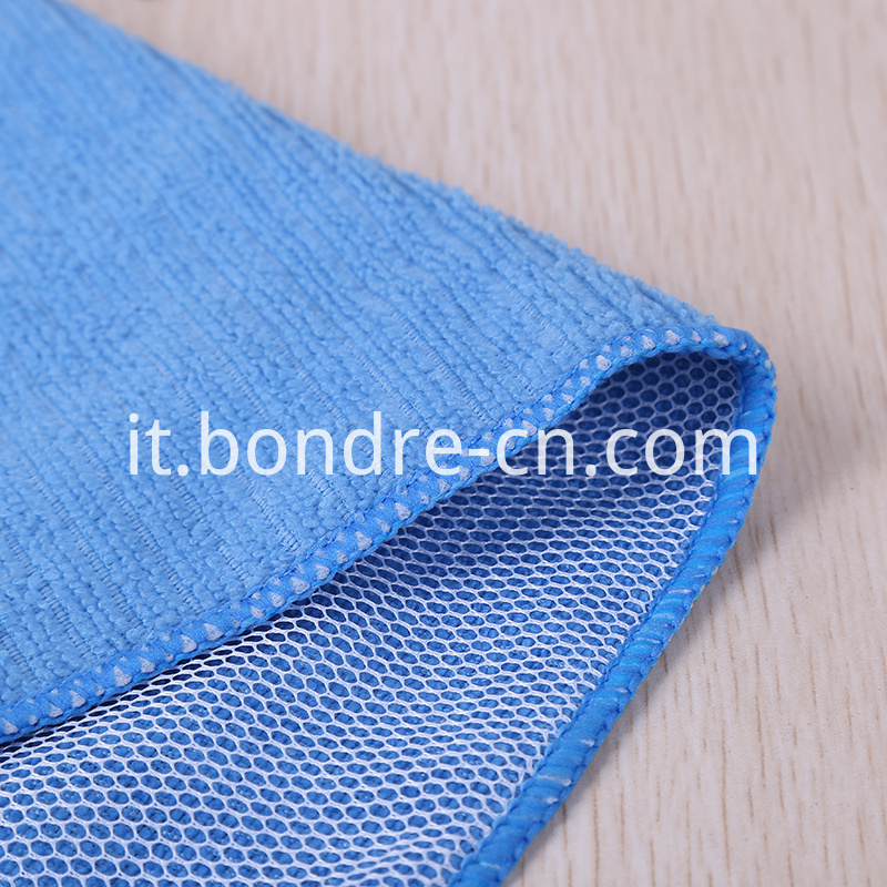 Needle Drop Weaving Clean Cloth With Mesh (4)