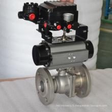 soupape de commande à bille pneumatique de la bride ss304 avec la valve de pression de soulagement de filtre à air